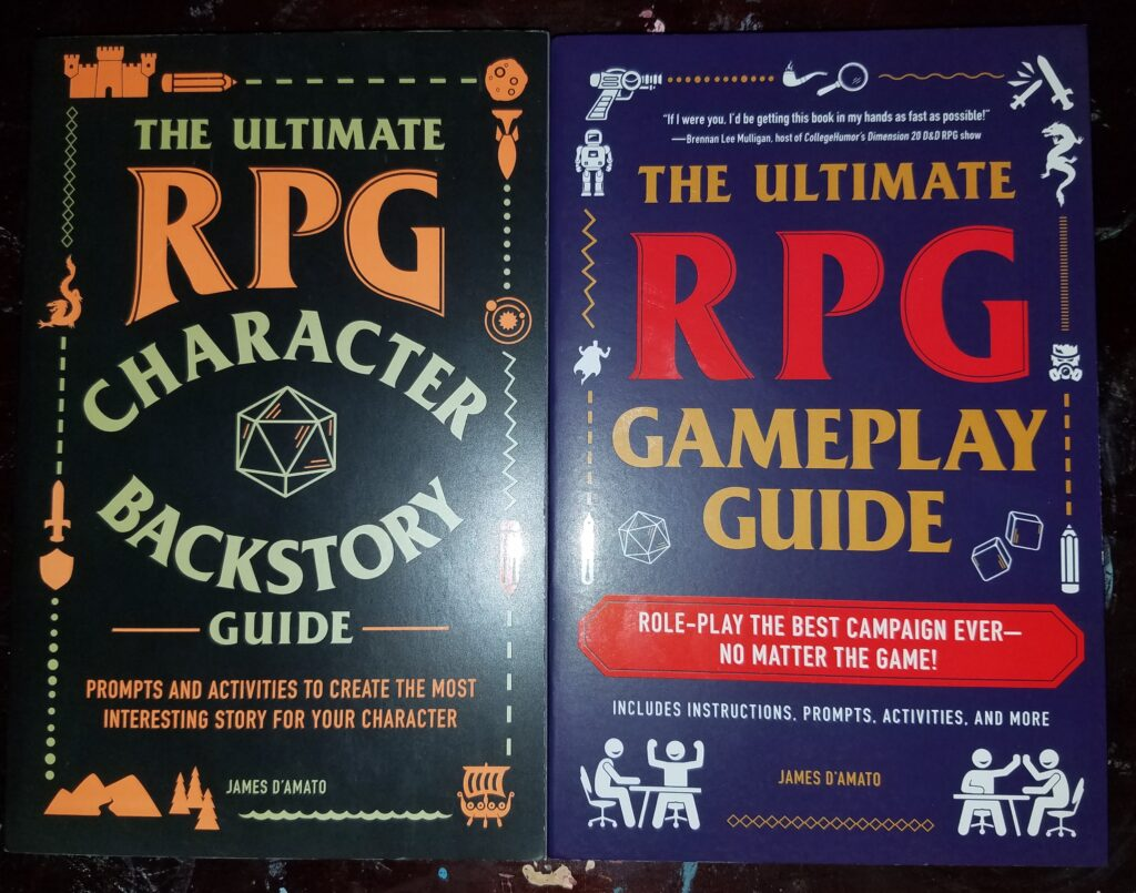 Two RPG guidebooks for better play.
