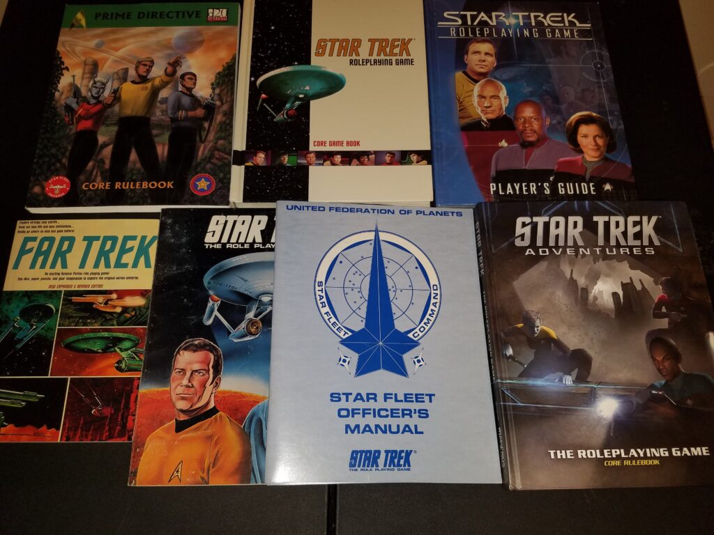Various Star Trek RPG books