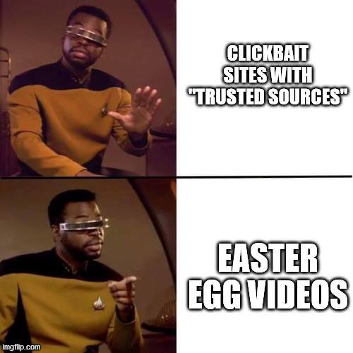 Clickbait vs Easter Eggs