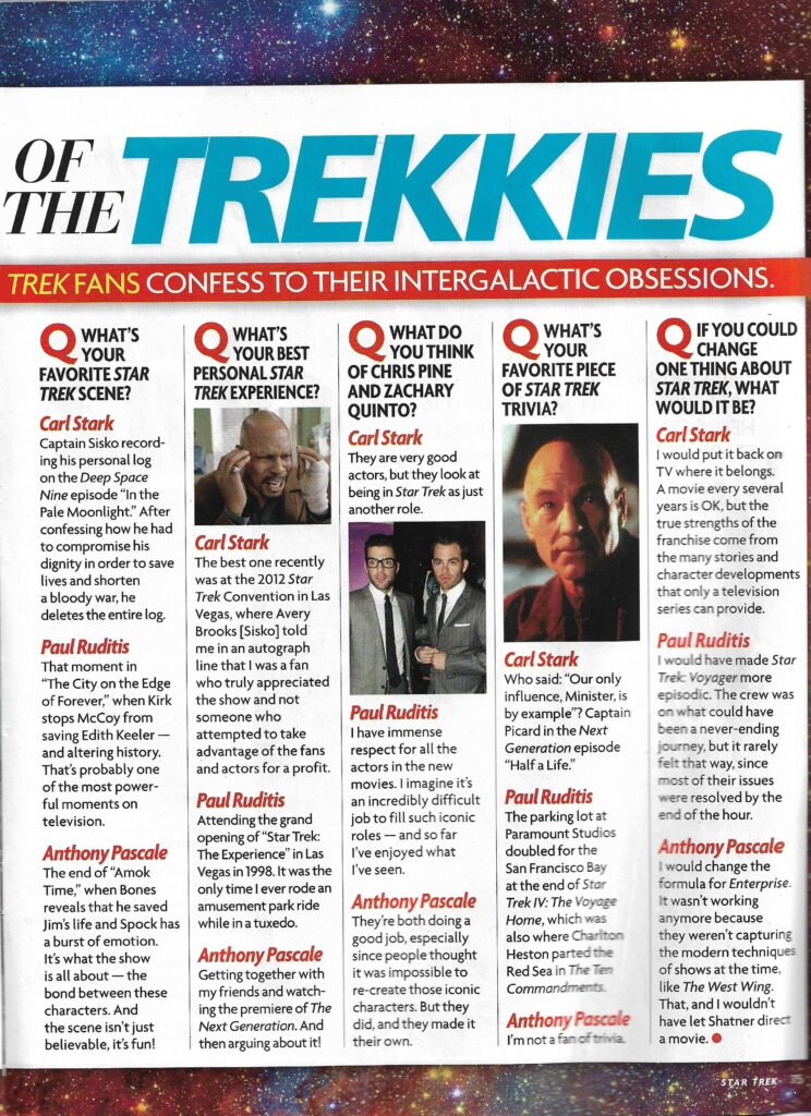Star Magazine Star Trek Into Darkness Special interview page 2