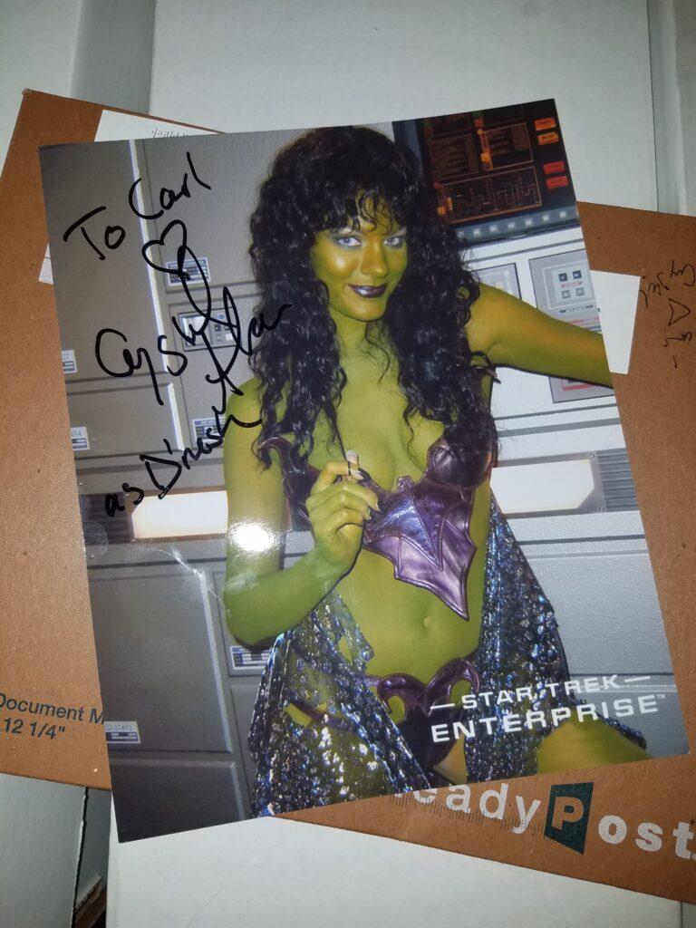 Crystal Allen's autograph