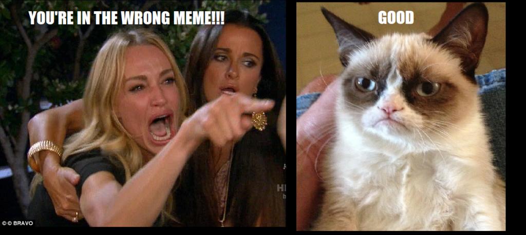 Screaming Lady Grumpy Cat