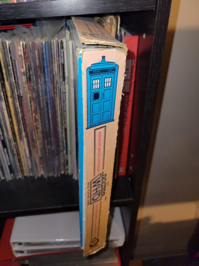 The Doctor Who RPG boxed set by FASA.