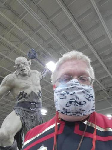 Azog the Defiler statue at FanX 2021