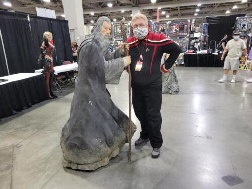 Gandalf statue at FanX 2021