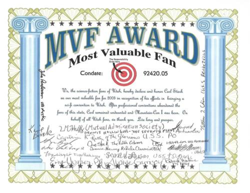 Most Valuable Fan Award